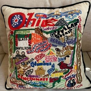 Ohio Catstudio embroidered pillow